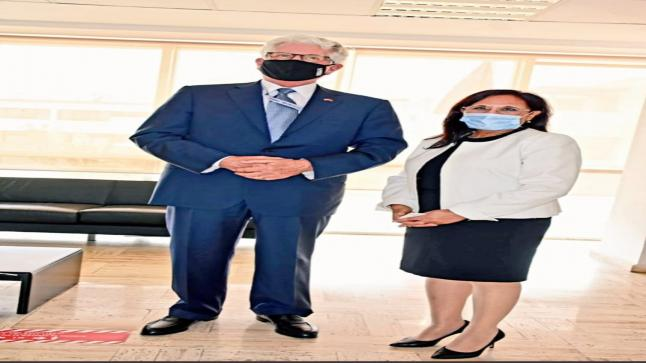 السفير الأمريكي بالمغرب يتباحث معرئيسة المجلس الوطني لحقوق الإنسان