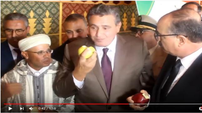 أخنوش: التفاح ثمنو طايح خاصكم طلعوه هادشي ماشي معقول (فيديو)