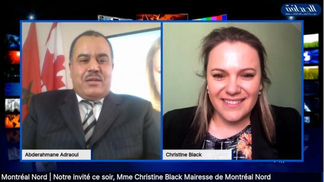 عمدة مونتريال الشمال كريستين بلاك.. المغاربة يغنون وحدة ساكنة المدينة، وزيارتي الثانية للمغرب مؤكدة بعد جائحة كوفيد-19