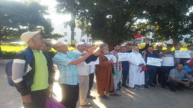 الرباط.. قدماء المحاربين والعسكريين الغير المستفيدين يتظاهرون أمام القيادة العليا للقوات المسلحة الملكية